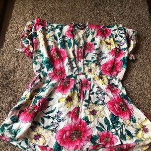 Floral coverup romper size small